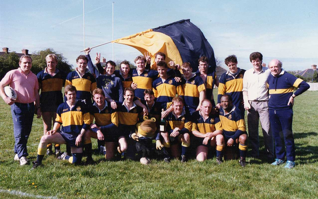 Worcester Rugby Football Club First XV - Promotion 1990